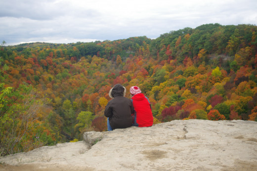 Bruce Trail passing through Hamilton offers fall colours like these.