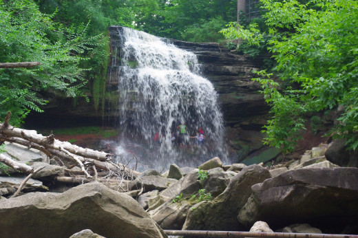 There are hundreds of waterfalls like this one all along the Bruce Trail.