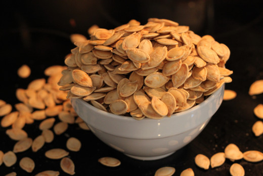 Roast pumpkin seeds for a delicious, healthy snack.