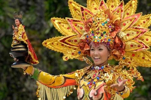 A contingent of the Sinulog Festival Grand Parade