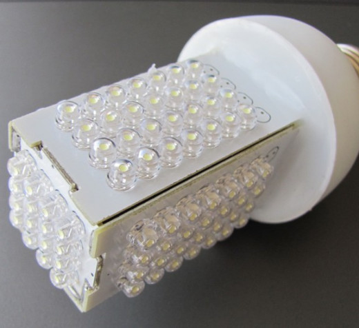 Strange looking energy saving LED bulb--wikimedia commons