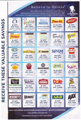 These coupons benefit 2 causes