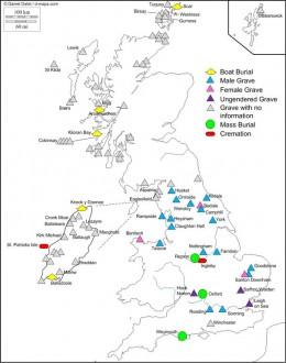 Viking burial sites in Britain