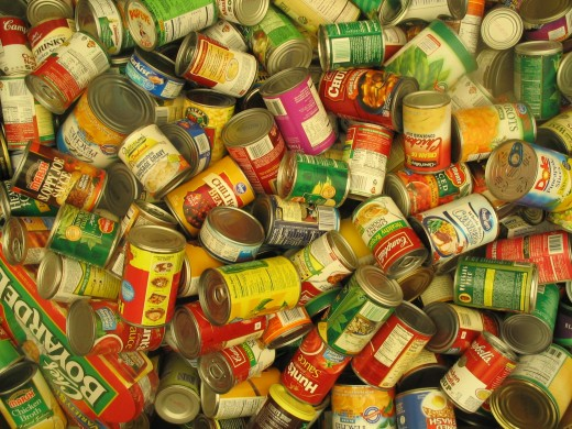 Canned food donations