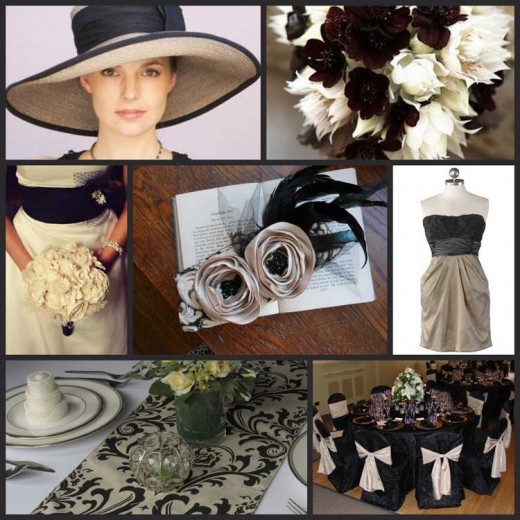 Black and white wedding theme, a stunning and timeless combination.