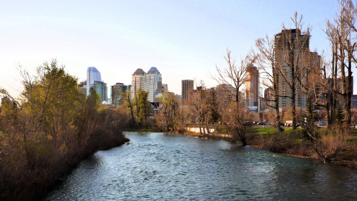 Calgary, the capital city of AB