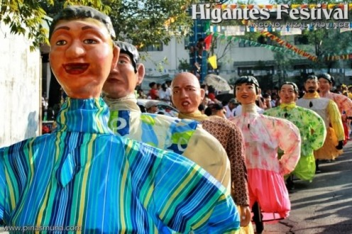 The adorable paper-mâché giants as they are paraded during the Higantes Festival