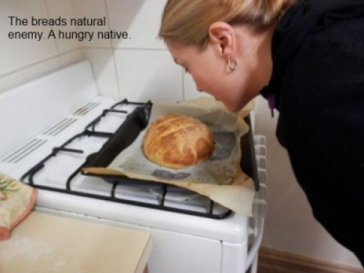 This loaf is in danger... mortal danger!