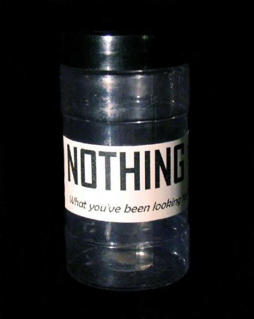 This is kind of what I meant. A jar of nothing.--wikimedia commons