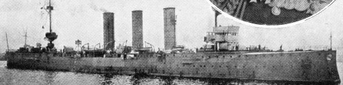 The 'Mainz' one of the five German warships sunk.