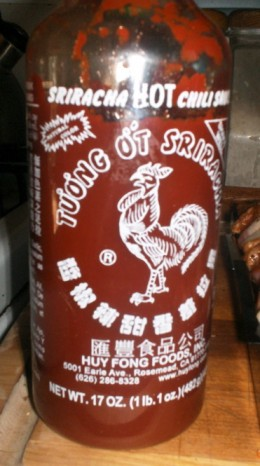 This is the chili sauce I used. I have no idea where I got it.
