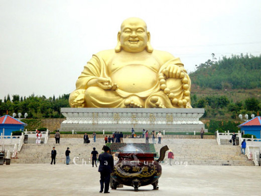 A famous Buddha statue in Mile county, Honghe.
