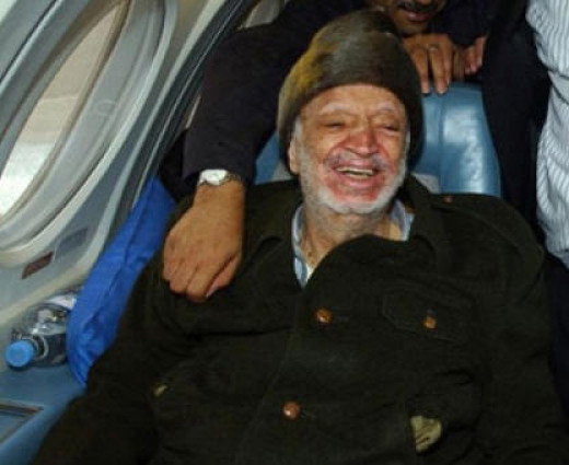 Arafat on his way to France with 11 days to live