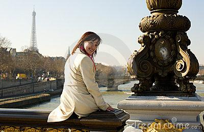 Pretty girl in Paris