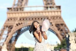 Cute girl in Paris