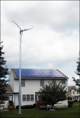 Example of a wind turbine for the home
