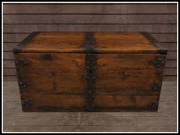 The wooden chest where the uniform lay for many years.