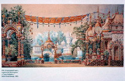 "The original set design for ""The Nutcracker Suite."""