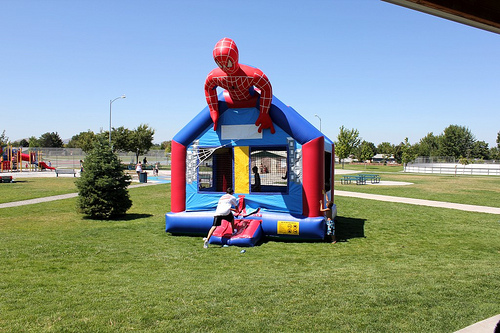 Spiderman Moonwalk Bounce House