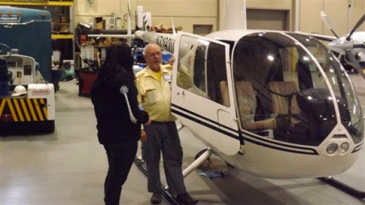 R-44 (Instructor Dennis Bowdoin and student Randi Knerr).
