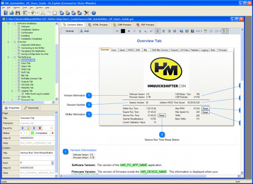 Figure 7:  Screenshot of a Page with Screenshot Layout