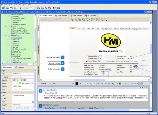 "Figure 8:  Screenshot of a Page with Screenshot Layout in ""Edit Mode"" (a.k.a. Annotation Designer)"