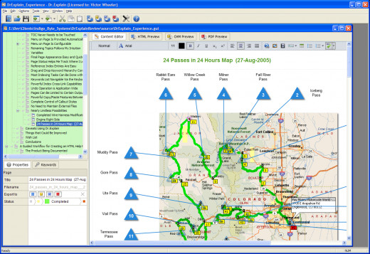 "Figure 8:  Map with Callouts as ""The Screenshot"" on a Page in Screenshot Mode"