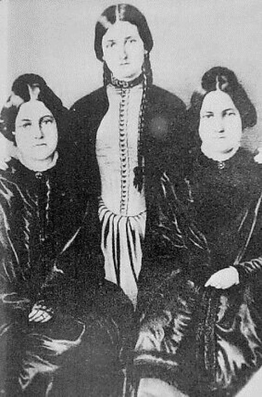 The Fox Sisters. From left to right: Margaret, Kate, and Leah