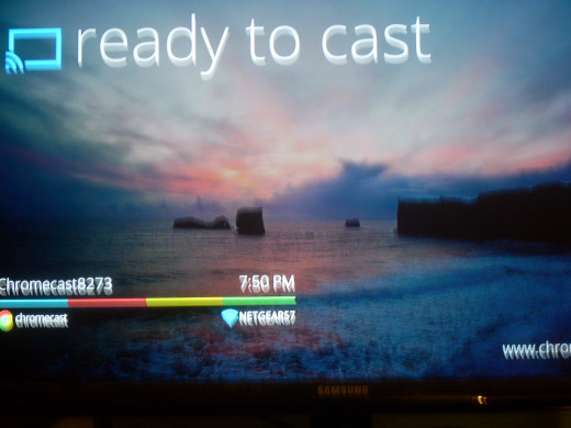 You Samsung Smart TV screen when Google Chromecast is installed successfully