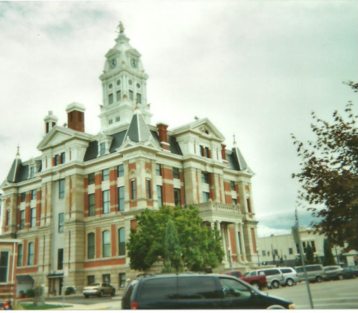 The Napoleon, Ohio, courthouse, built in the 1800s.