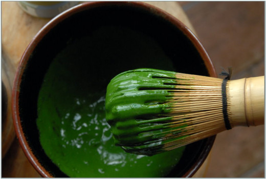 Thick Matcha (Koicha) more scoops of matcha powder with less water.