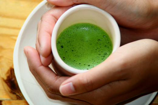 Thinner matcha (usucha) less scoops of tea powder, more water.