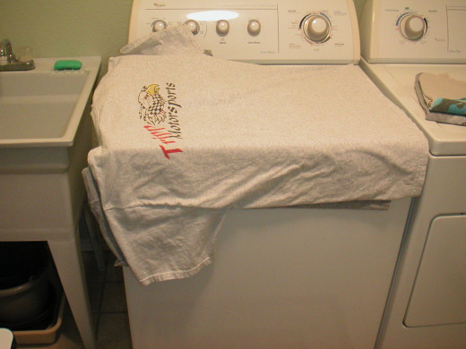 Take the clothes out of the dryer promptly and stage them on the washer.