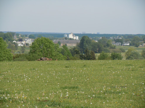 The Belgian village of Sterpenich seen from Hett to the west