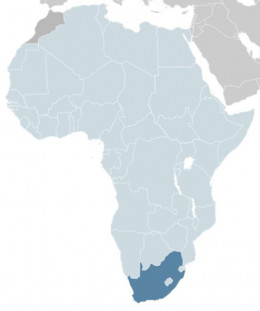 Lesotho - The small power-blue dot in the middle of South Africa