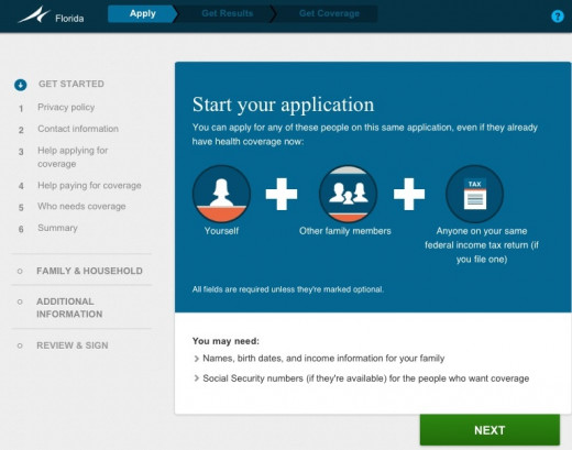Starting your application should look like this.