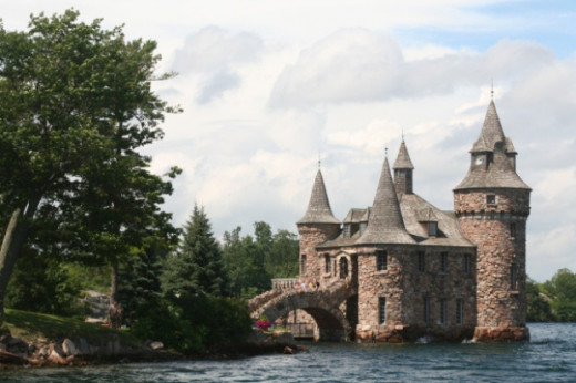 This grand structure marks just the entryway to Boldt Castle.