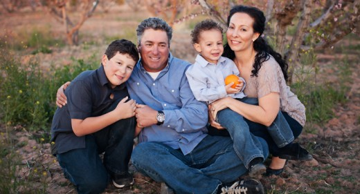 Cono & Angela Vertuccio with their sons,  Anthony & Joseph.