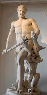 Heracles, the Greek hero killing Hydra.