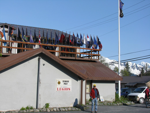 American Legion building in Seward, Alaska