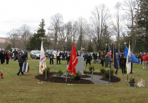 American Legion dedication of a Veteran's Monument