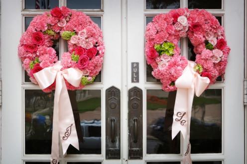 Floral wedding wreaths.