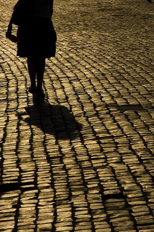 She walks alone from Flavio Spugna flickr.com