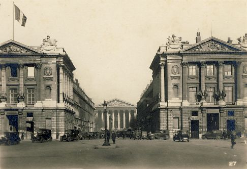 Place de la Concorde, looking down the Rue Royal to La Madeleine