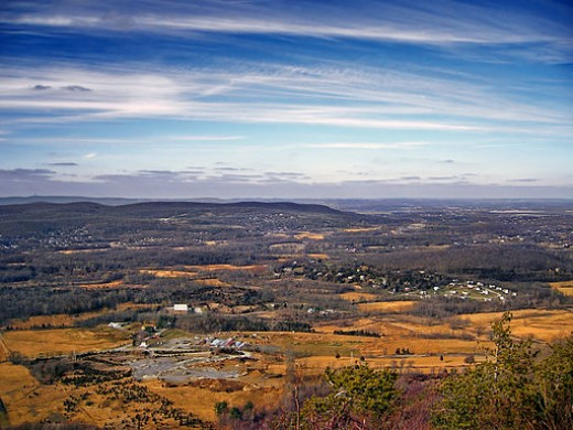 A view from the top of Wawayanda Mountain.