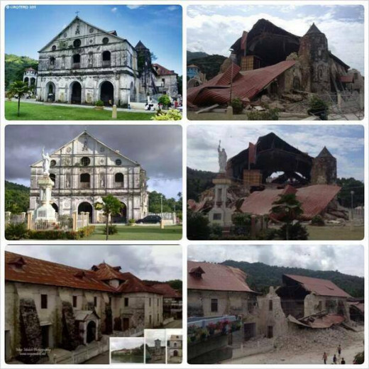 Bohol Churches after the Earthquake