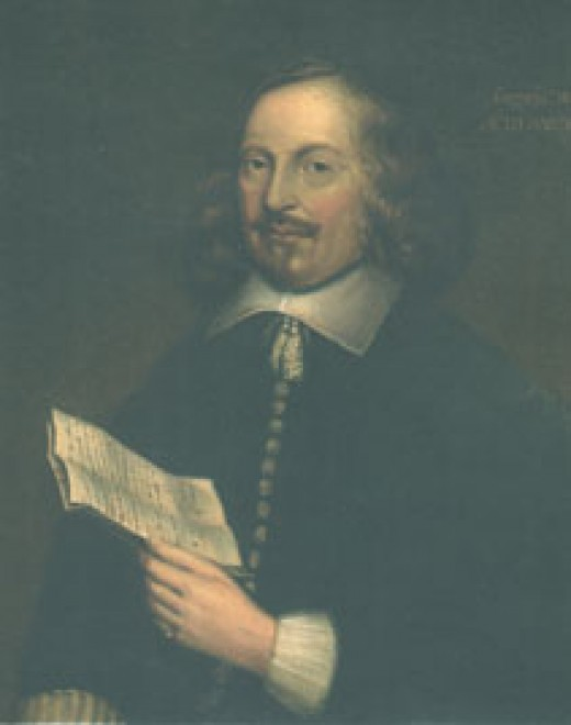 Edward Winslow. The only well-authenticated portrait of a Mayflower passenger