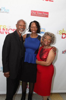 Cheryl with 2013 dance participants: 81 yr-old Robert L. Henry and competition winner The Honorable Betty Staton, 79.