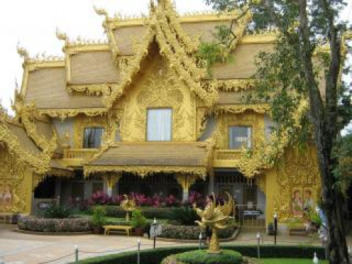 The Golden Temple. Thailand was formerly called Siam.