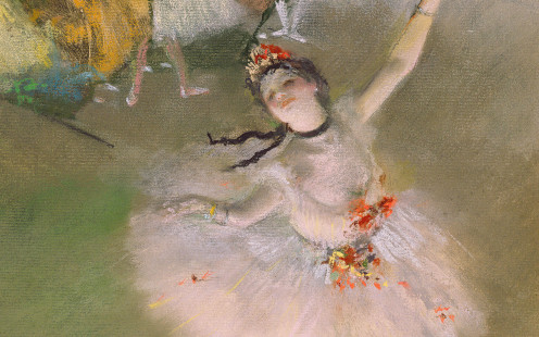 """Ballerina"" painted by Edgar Degas."